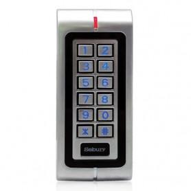 Teclado control acceso con lector de tarjetas