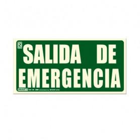 Cartel salida de emergencia