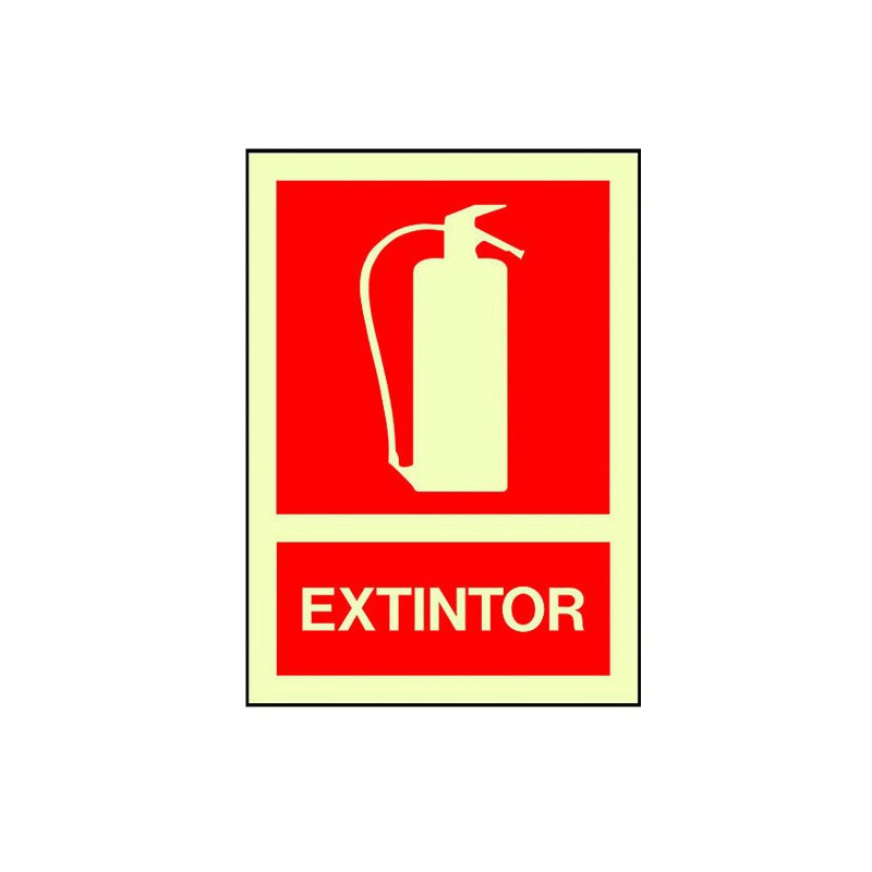Cartel extintor homologado fotoluminiscente