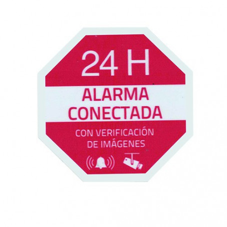 Pegatina alarma conectada de plástico para interior/exterior