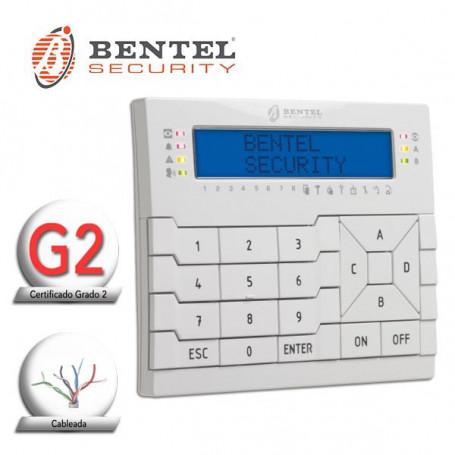 Teclado LCD para centrales BENTEL serie PREMIUM. Retroiluminado