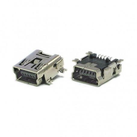 Conector USB Mini B Hembra SMD - Female Mini B USB Socket Connec