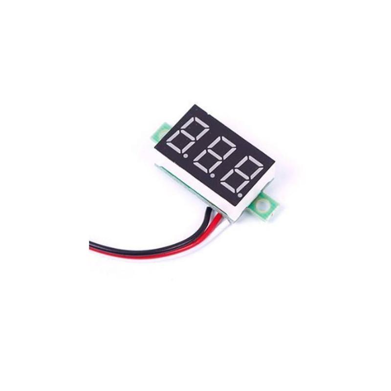 Voltímetro para pequeños montajes de 0v a 32v