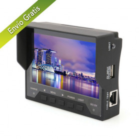 "Tester CCTV ideal para instaladores con pantalla de 4,3"" ahora con comprobador de ADSL"