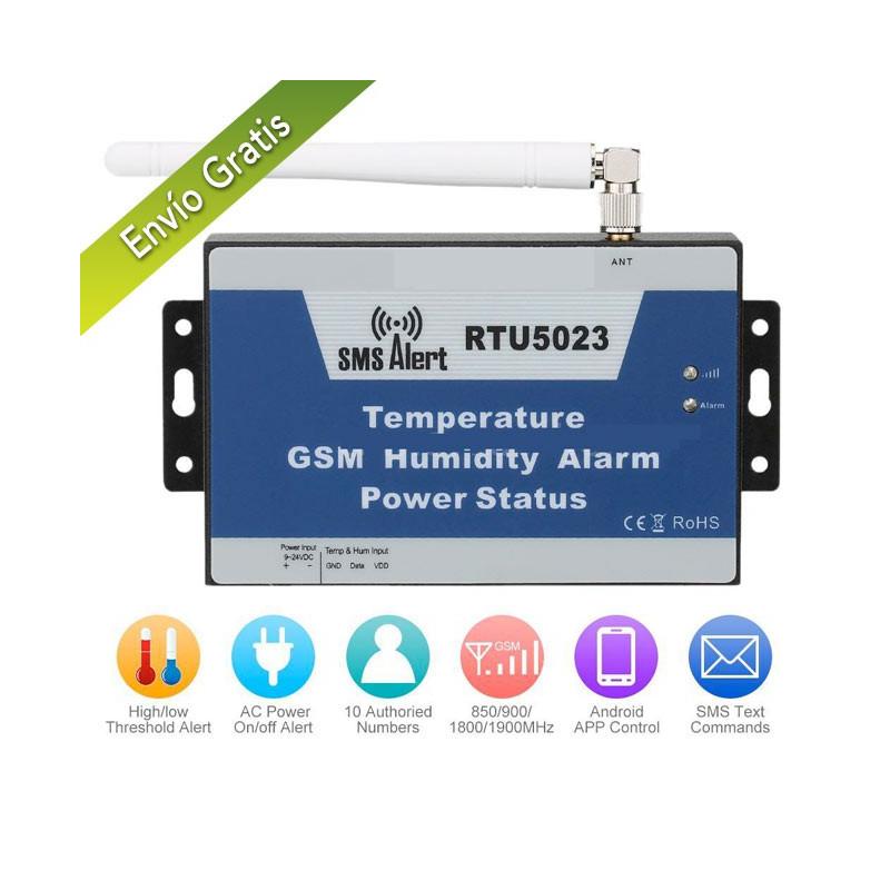 Termómetro GSM con sonda de humedad