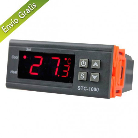 Termostato 220v Digital con controlador de TEMPERATURA DIGITAL con Sonda,Rele,Frio,Camaras,Grow