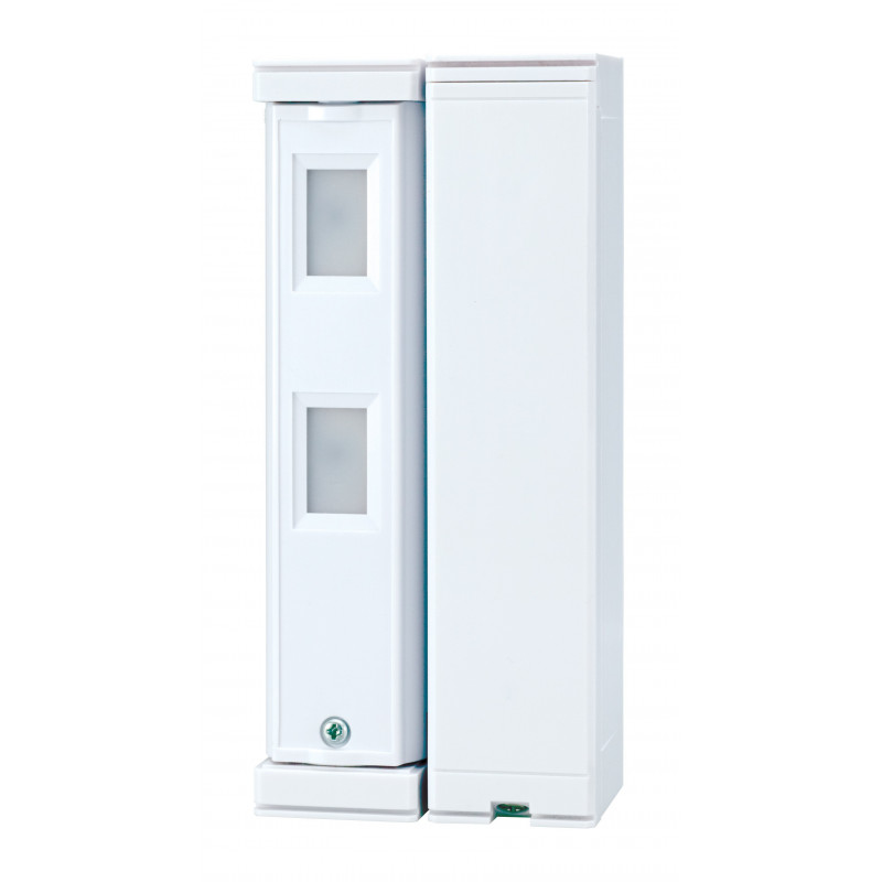 3 a 9 v - Detector doble PIR autoalimentado para exteriores cobertura 5m x 1m