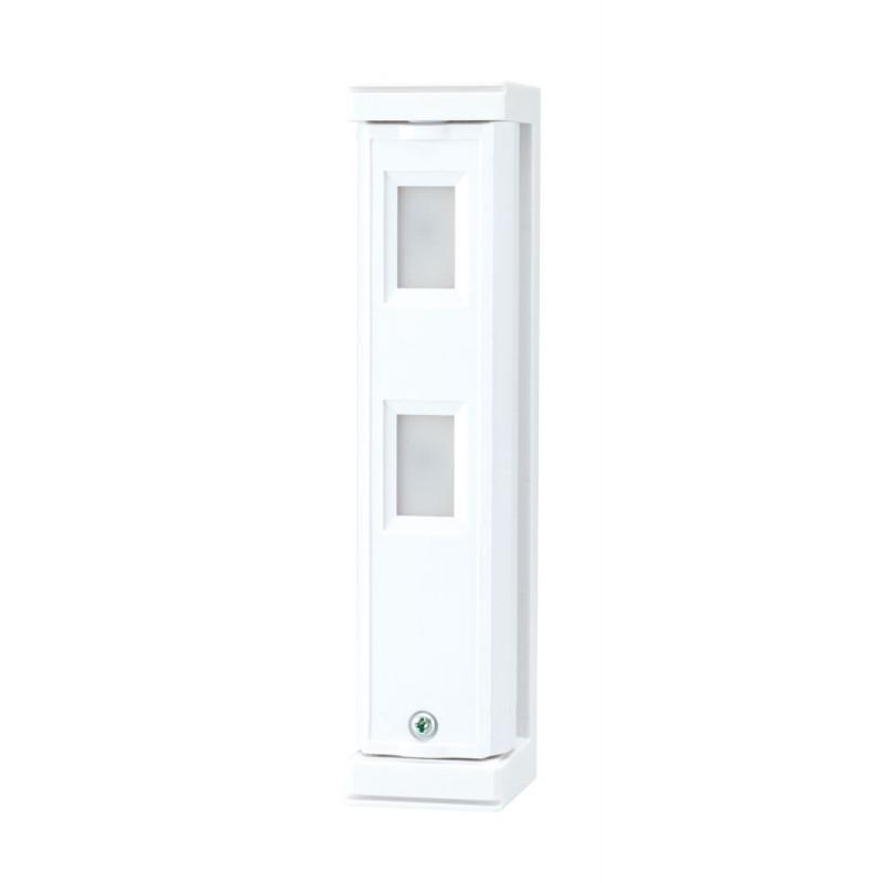9,5 – 18 V - Detector doble PIR para exteriores cobertura 5 x 1m con antienmascaramiento tipo cortina