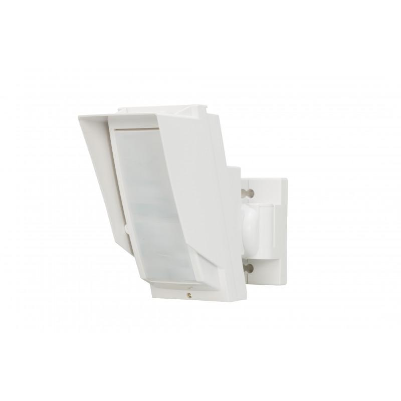 Detector con doble PIR para exteriores con antienmascaramiento. Cobertura 24m x 2m