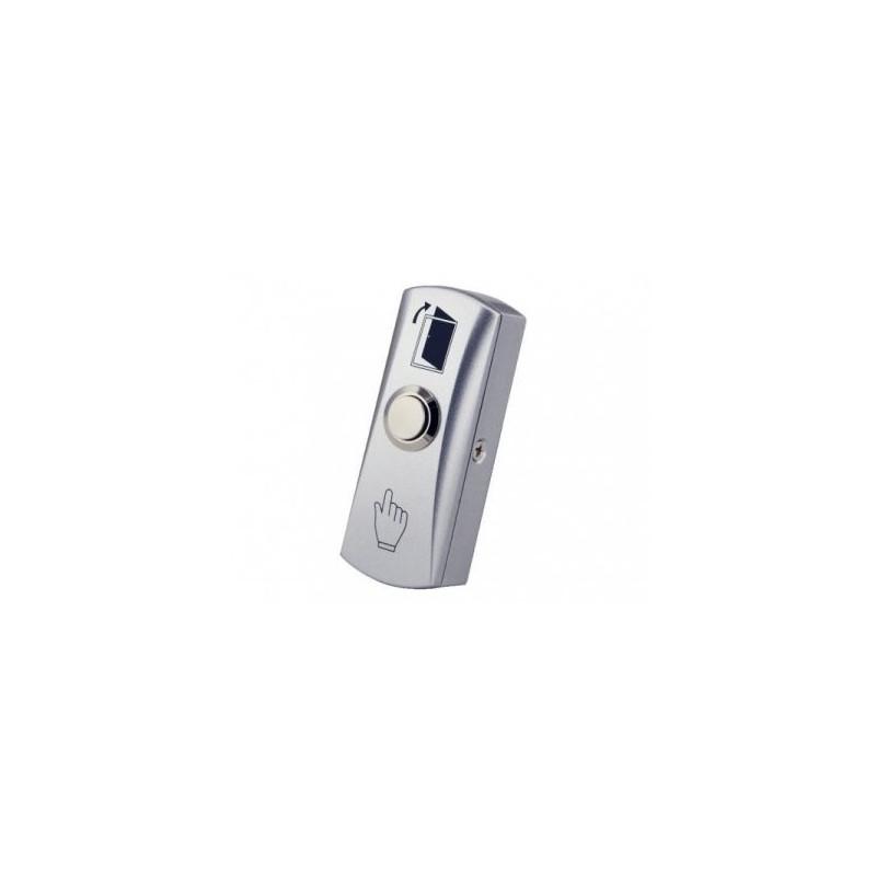 Pulsador de apertura y liberación de puertas con cerradura eléctrica. Montaje en superficie