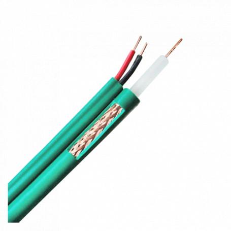 Cable combinado KX6 y alimentación para instalaciones CCTV. Rollo de 100 metros