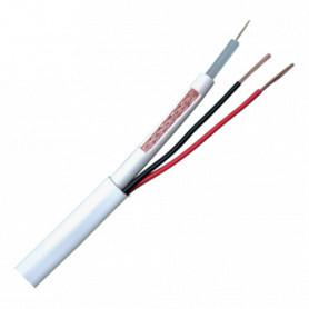Cable combinado RG59 y alimentación para instalaciones CCTV. Rollo de 100 metros