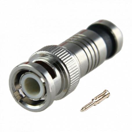 Conector BNC macho rápido de compresión