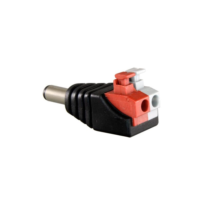 Conector DC hembra de fácil conexionado