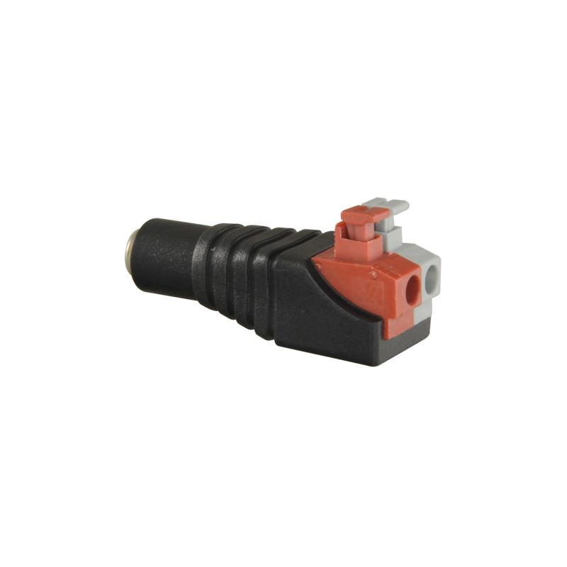 Conector DC macho de fácil conexionado