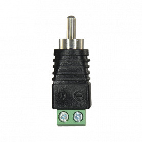 Conector RCA macho con salida +/- de 2 terminales