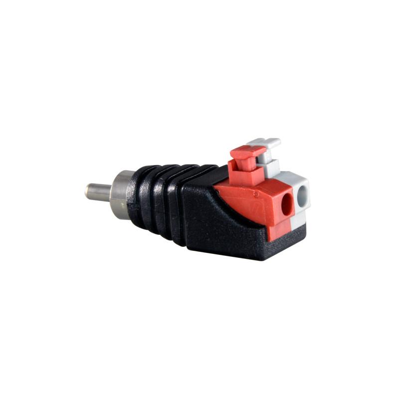 Conector RCA macho de fácil conexionado