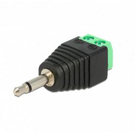 Conector Jack 3.5 mm Mono con salida +/- de 2 terminales