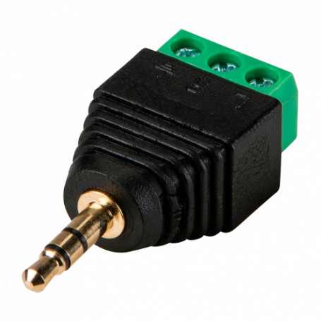 Conector Jack 3.5 mm Estéreo con salida +/- de 2 terminales
