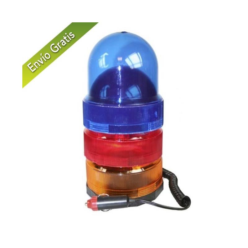 Luz giratoria con base magnética 12v 3 colores