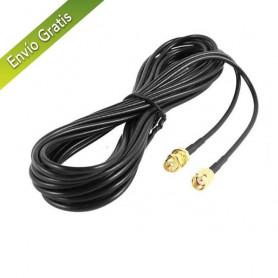 Cable RP SMA Macho a RP SMA Hembra 10m