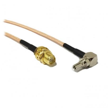 SMA hembra a macho CRC9 RF Adaptador Conector para 3 G módem