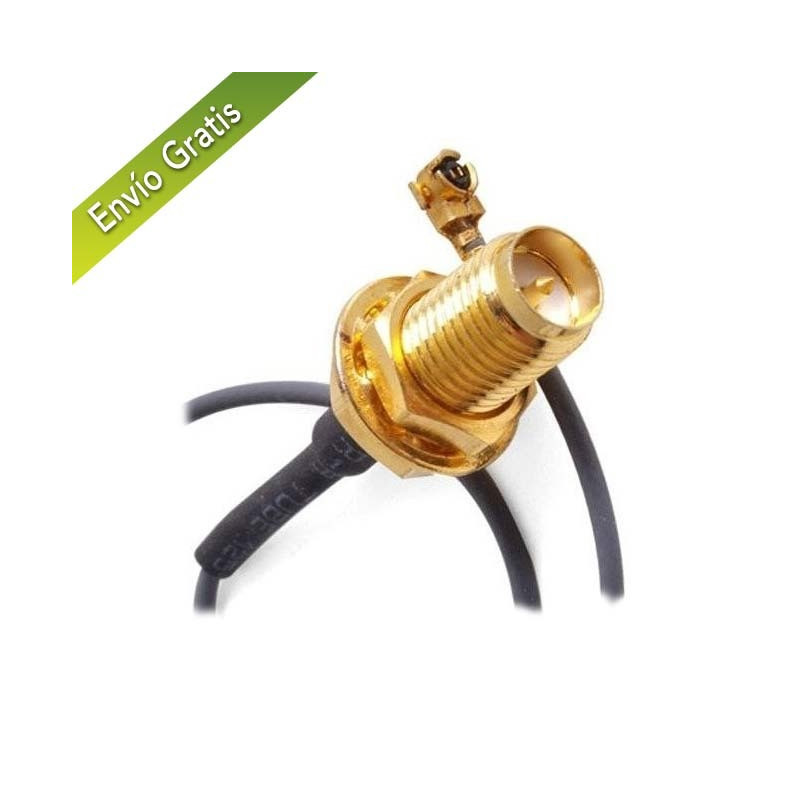Conector sma hembra a pigtail 15cm