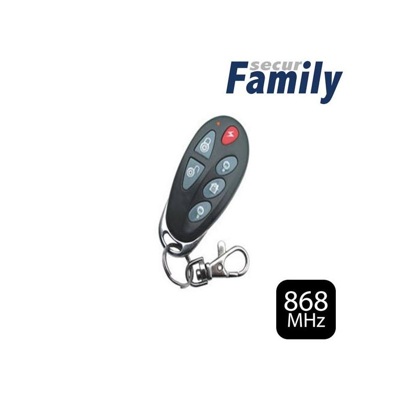 Mando a distancia de 6 botones para centrales Secur Family