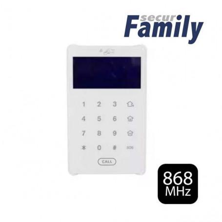 Teclado vía radio bidireccional con pantalla LCD y lector de Tags