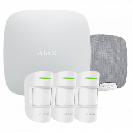 Kit de alarma Ajax – Básico + sirena interior + 3 volu – sin mando – Blanco