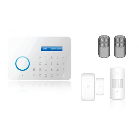 Alarma inalámbrica Aurora A11 con conexión a la línea de teléfono fijo kit básico