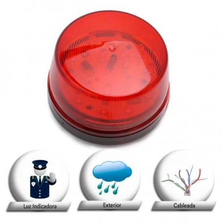 Luz roja LED para alarma con Strobe 12v