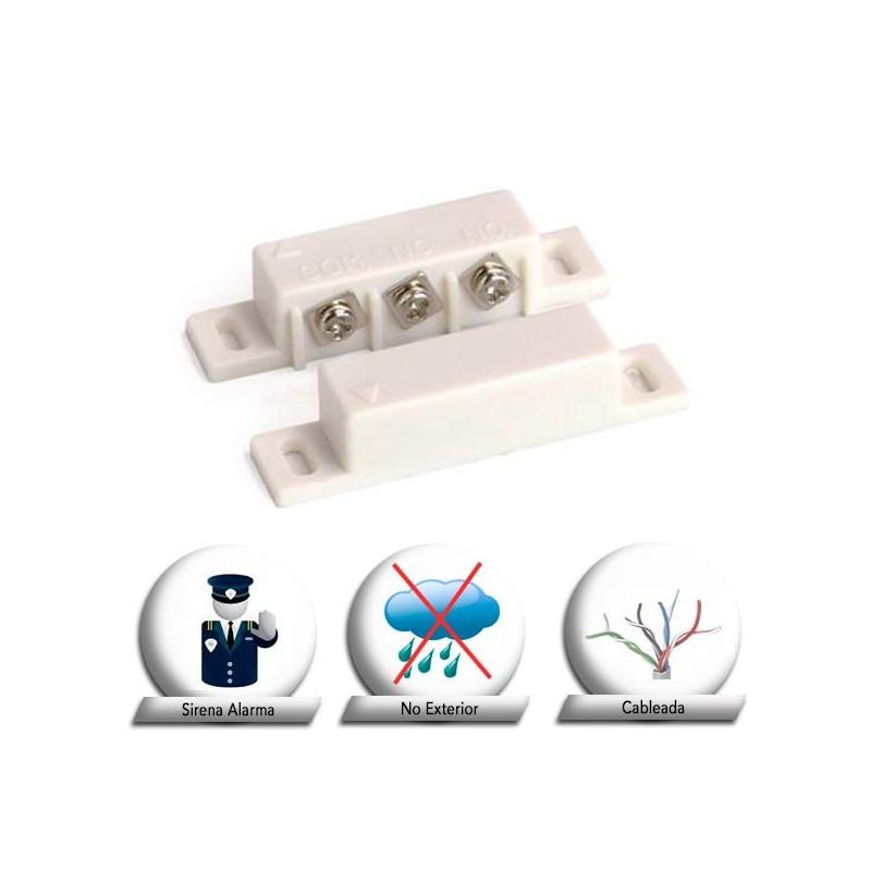 Sensor magnético cableado N.C (normalmente cerrado) superficie