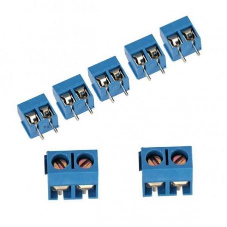 10 x Conectores con tornillo para soldar en placa