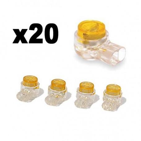 20 x Conectores con Gel para conexiones de cables finos