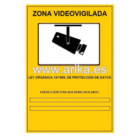 Cartel Obligatorio CCTV