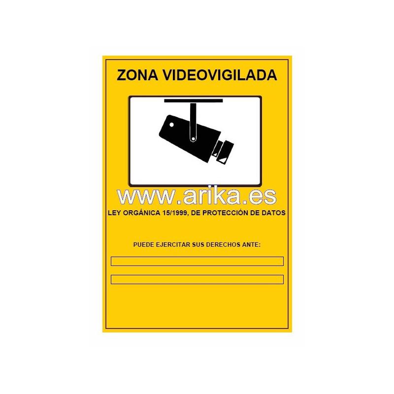 Cartel obligatorio cctv tienda de alarmas c maras - Cartel de videovigilancia ...